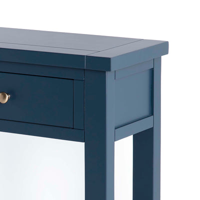 Cheltenham Blue Telephone Table - Close up of top side of table