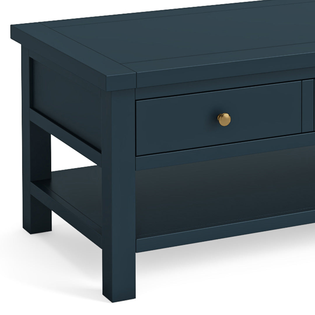 Cheltenham Blue Coffee Table with Drawer