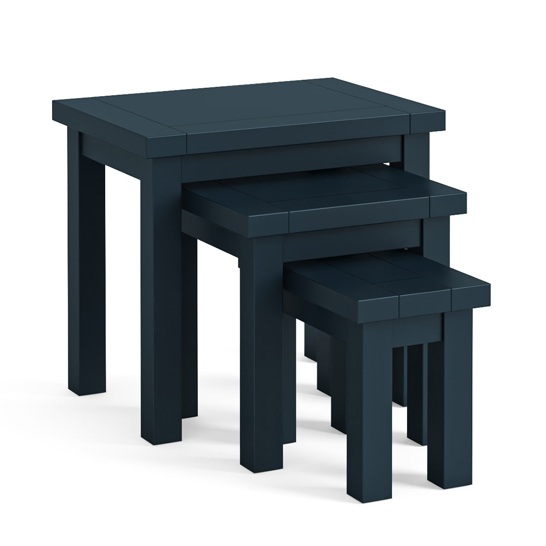 Cheltenham Blue Nest of Tables by Roseland Furniture