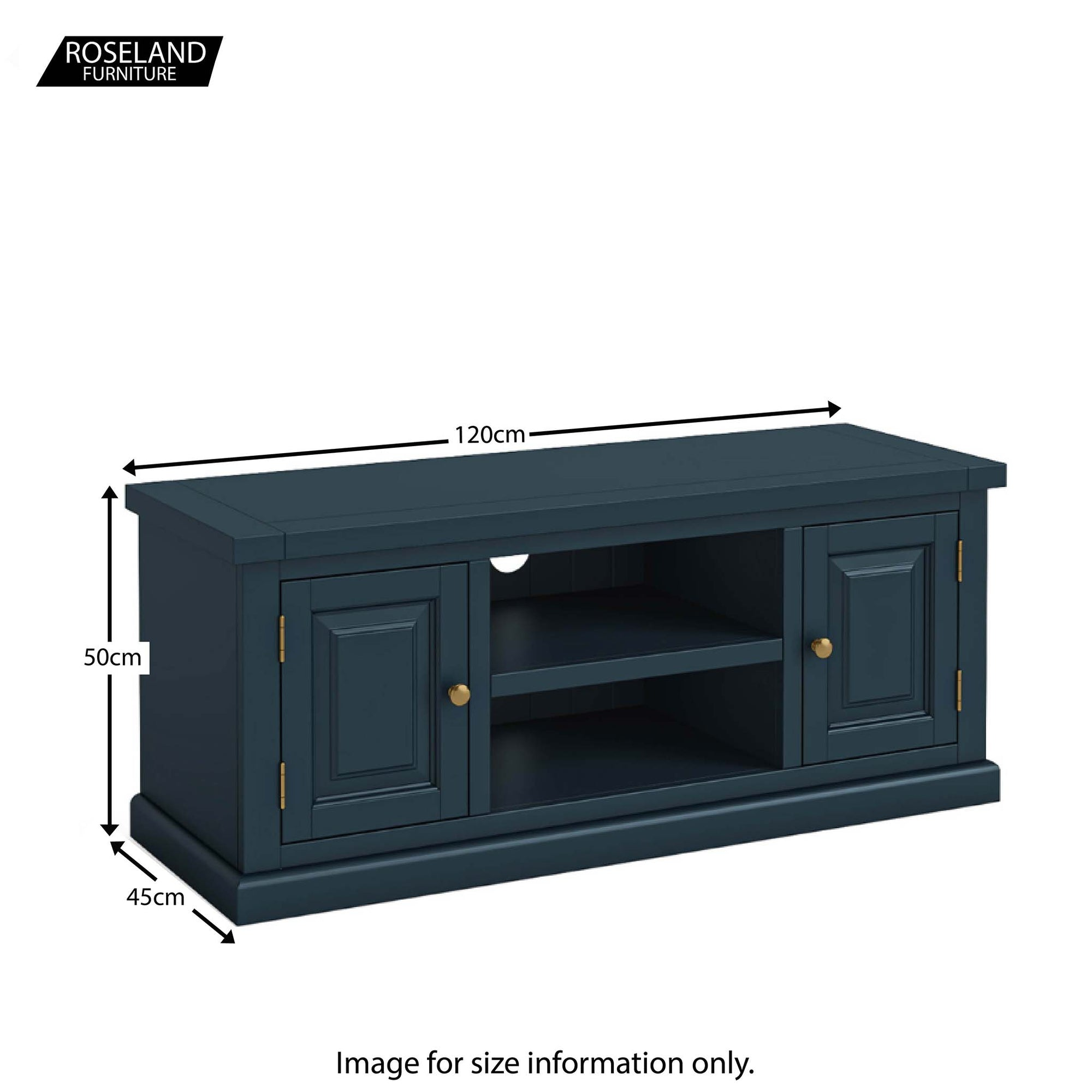 Cheltenham Blue Large Tv Stand Up To 55 Screens Roseland Furniture