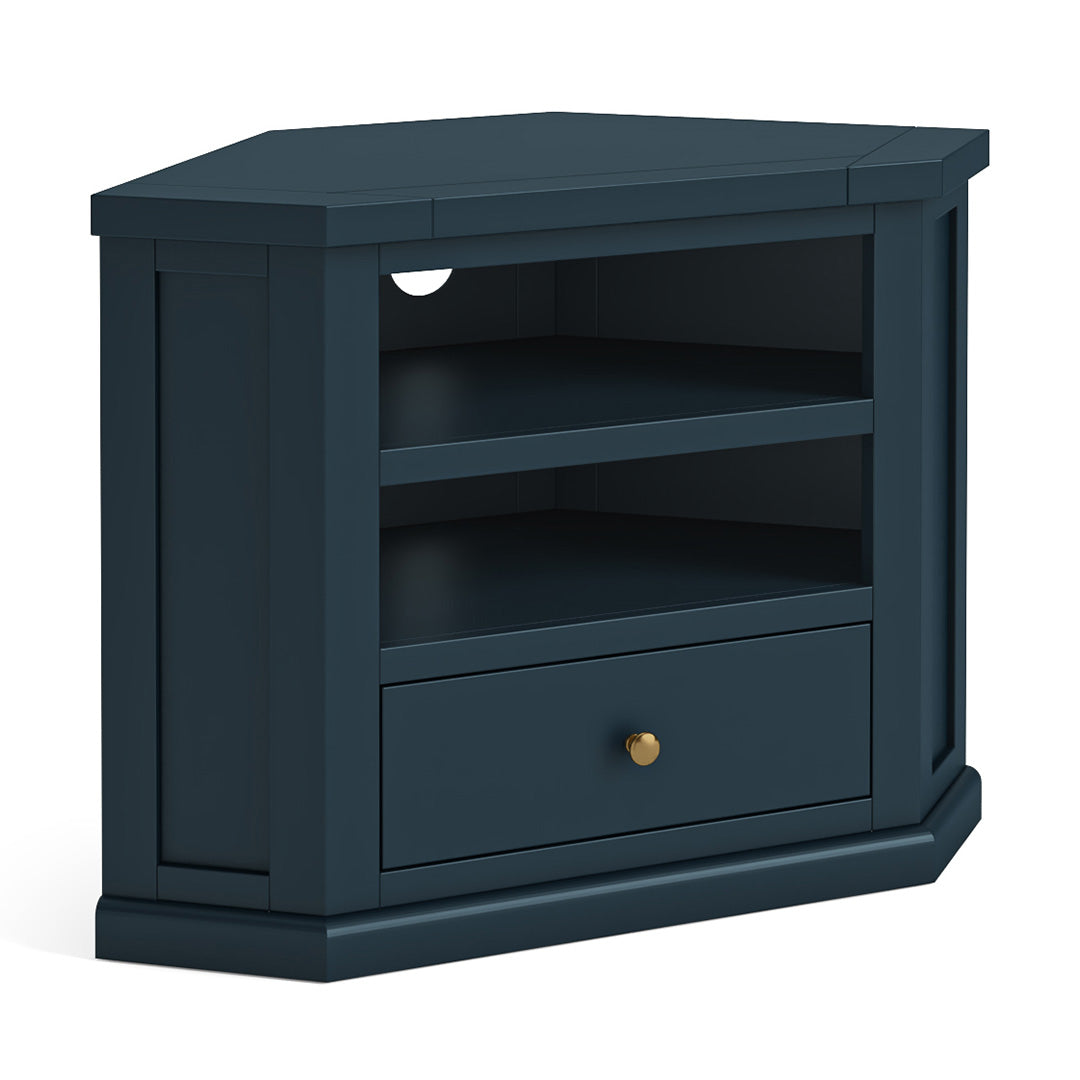 Cheltenham Blue Corner TV Stand by Roseland Furniture