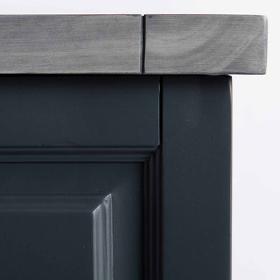 Bristol Charcoal Blanket Box - corner