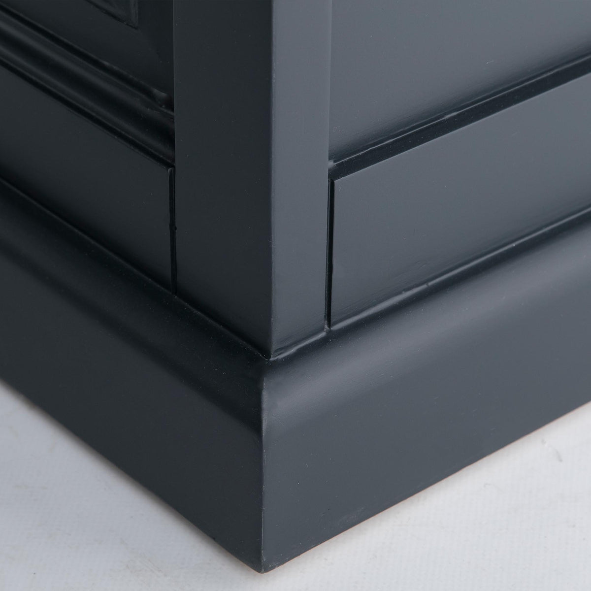Bristol Charcoal Blanket Box - bottom corner