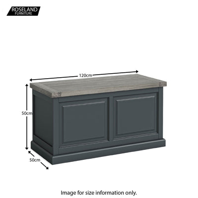Dimensions - Bristol Charcoal Blanket Box