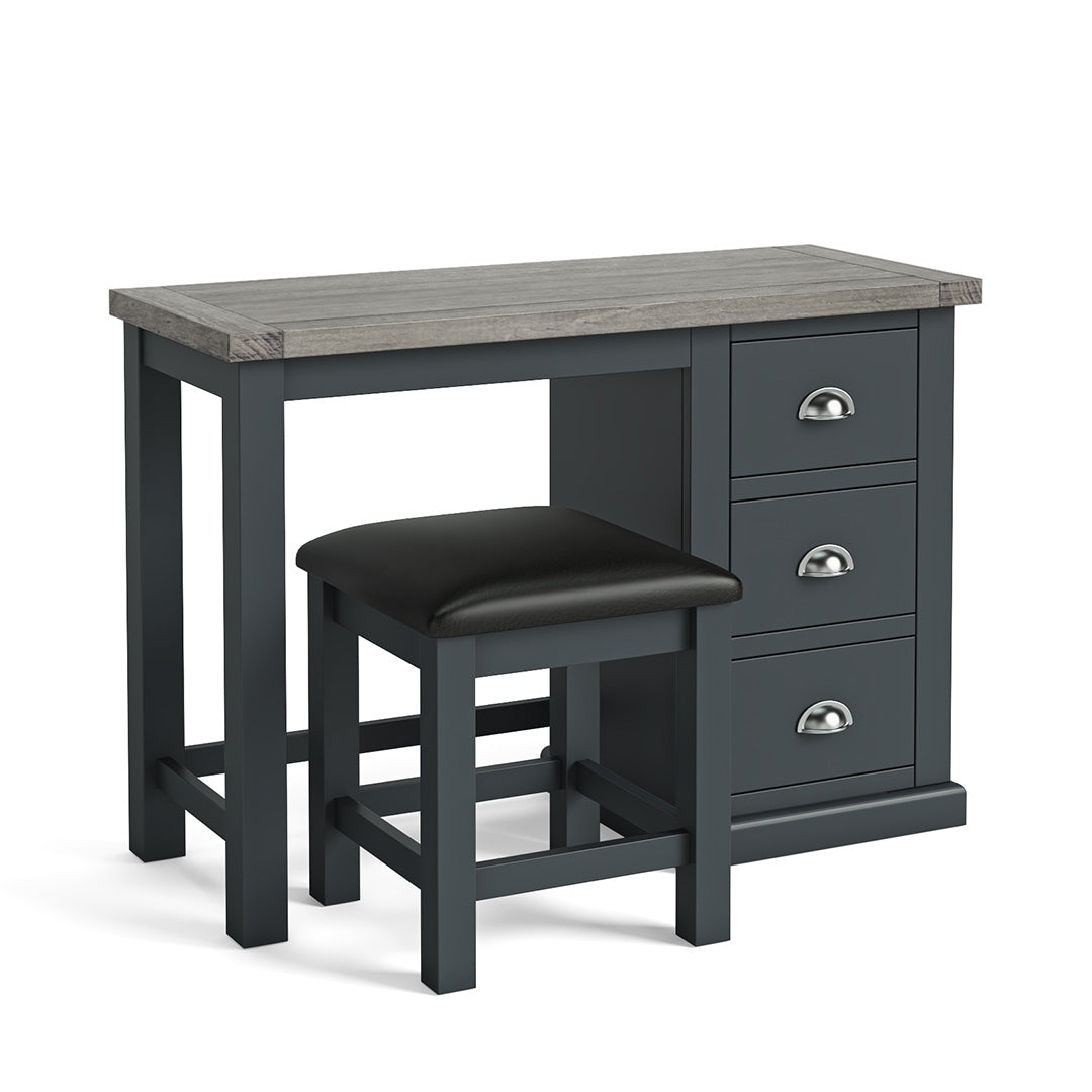 Bristol Charcoal Dressing Table & Stool by Roseland Furniture