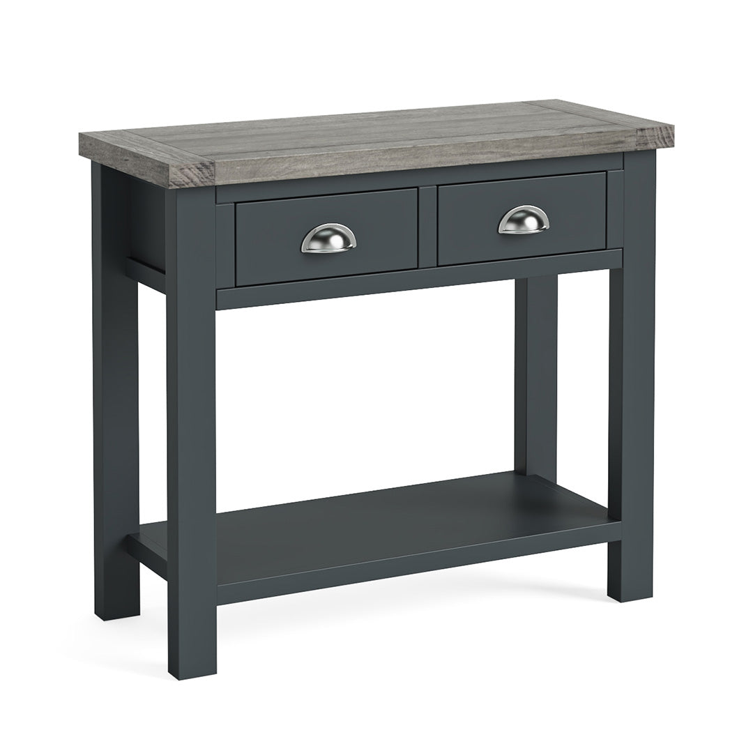 Bristol Charcoal Console Table by Roseland Furniture