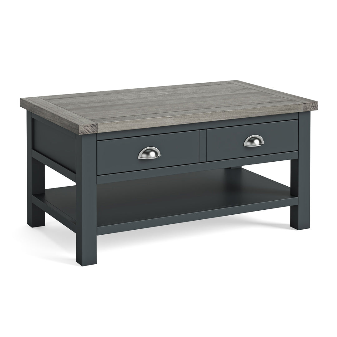 Bristol Charcoal Coffee Table with Drawer by Roseland Furniture