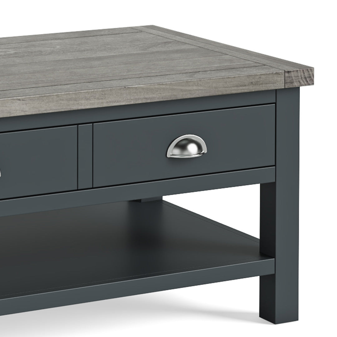 Bristol Charcoal Coffee Table with Drawer