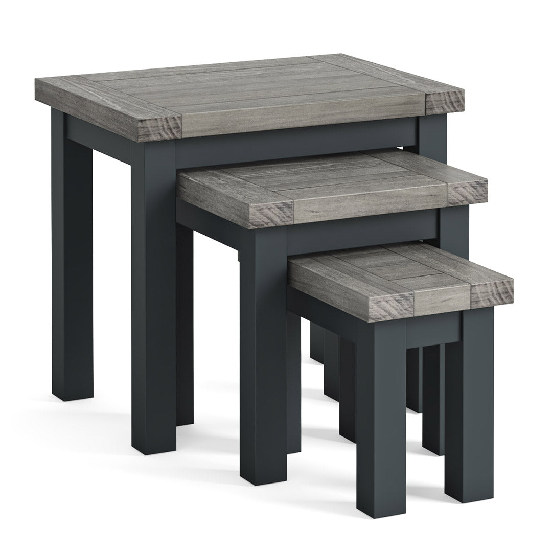 Bristol Charcoal Nest of Tables by Roseland Furniture