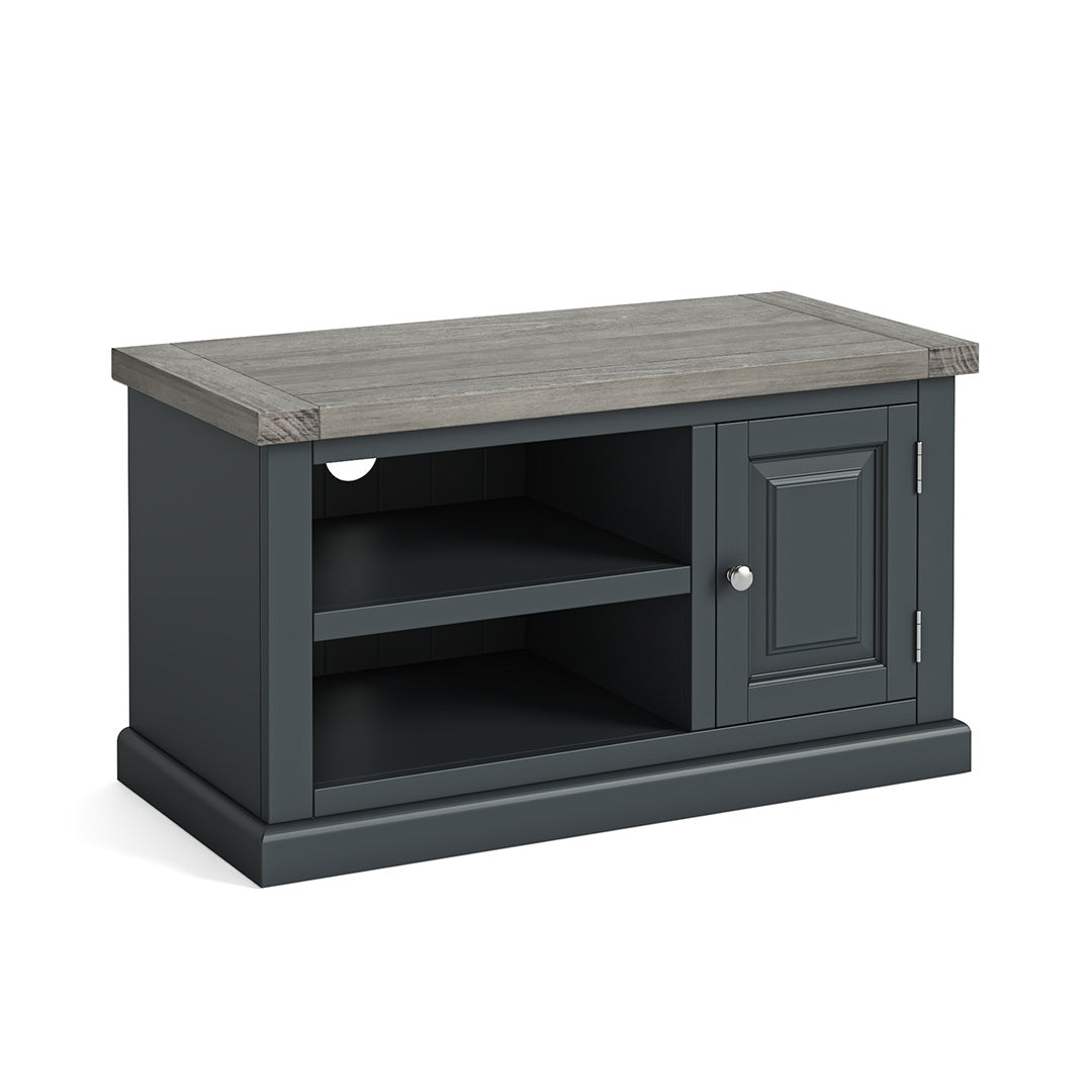 Bristol Charcoal 90cm Small TV Stand by Roseland Furniture