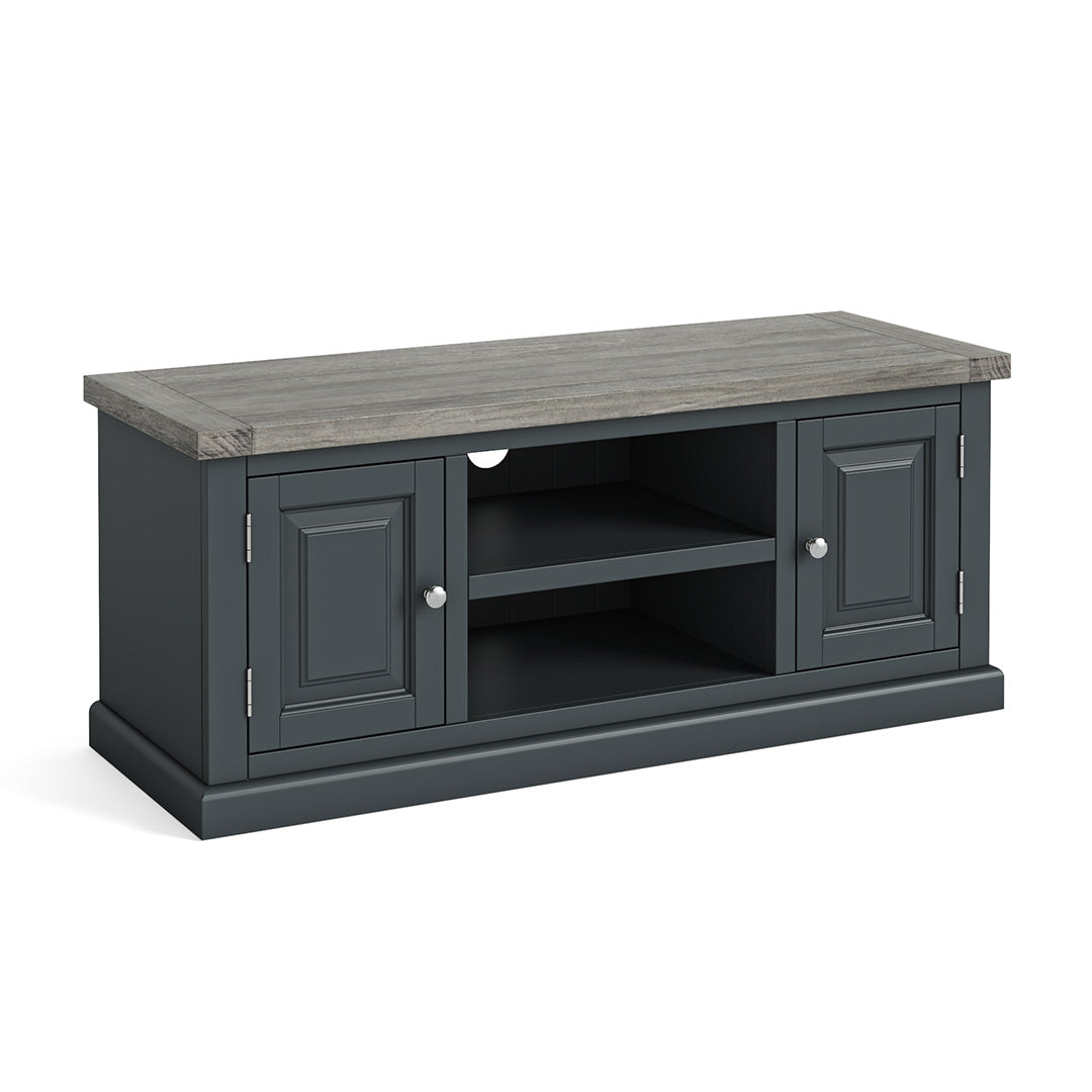 Bristol Charcoal 120cm Large TV Stand by Roseland Furniture