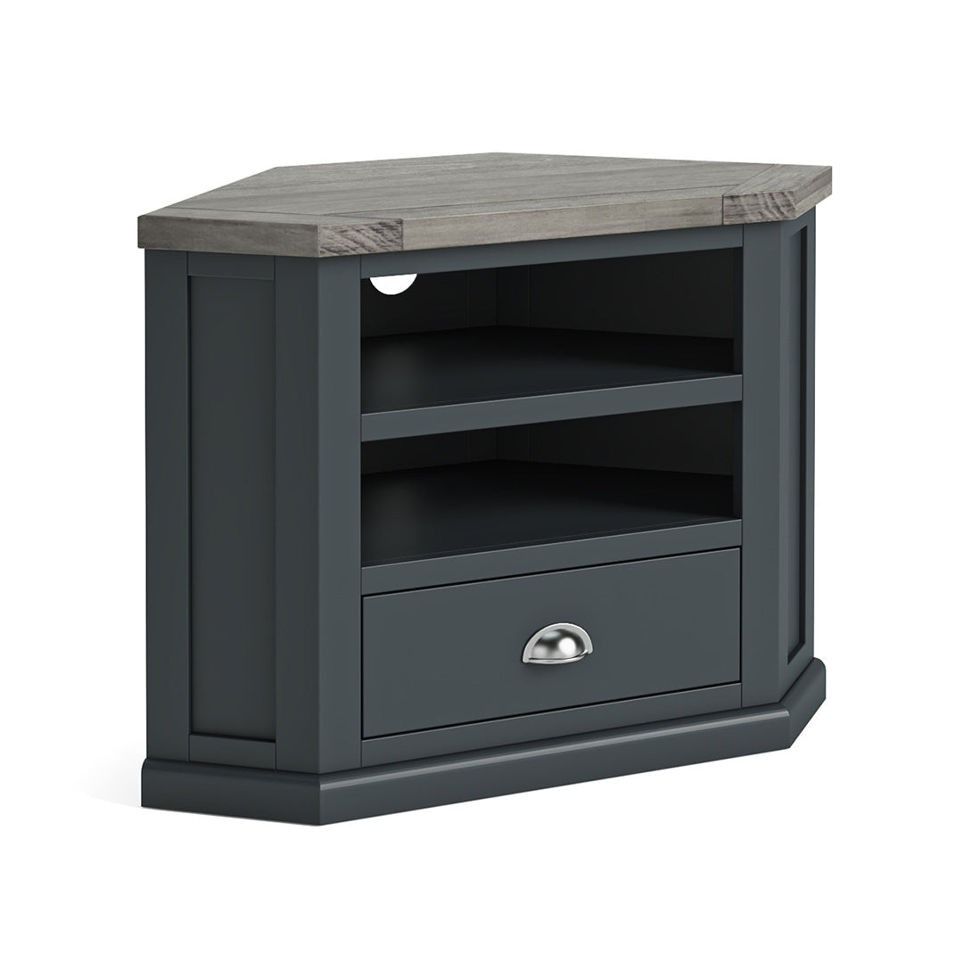 Bristol Charcoal Corner TV Stand by Roseland Furniture
