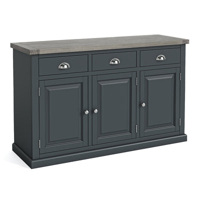 Bristol Charcoal Large Sideboard by Roseland Furniture