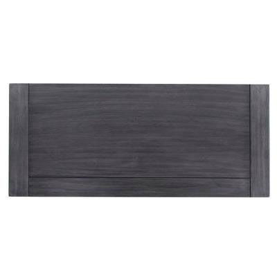 Bristol Charcoal Low Bookcase - Birds eye view of wooden top