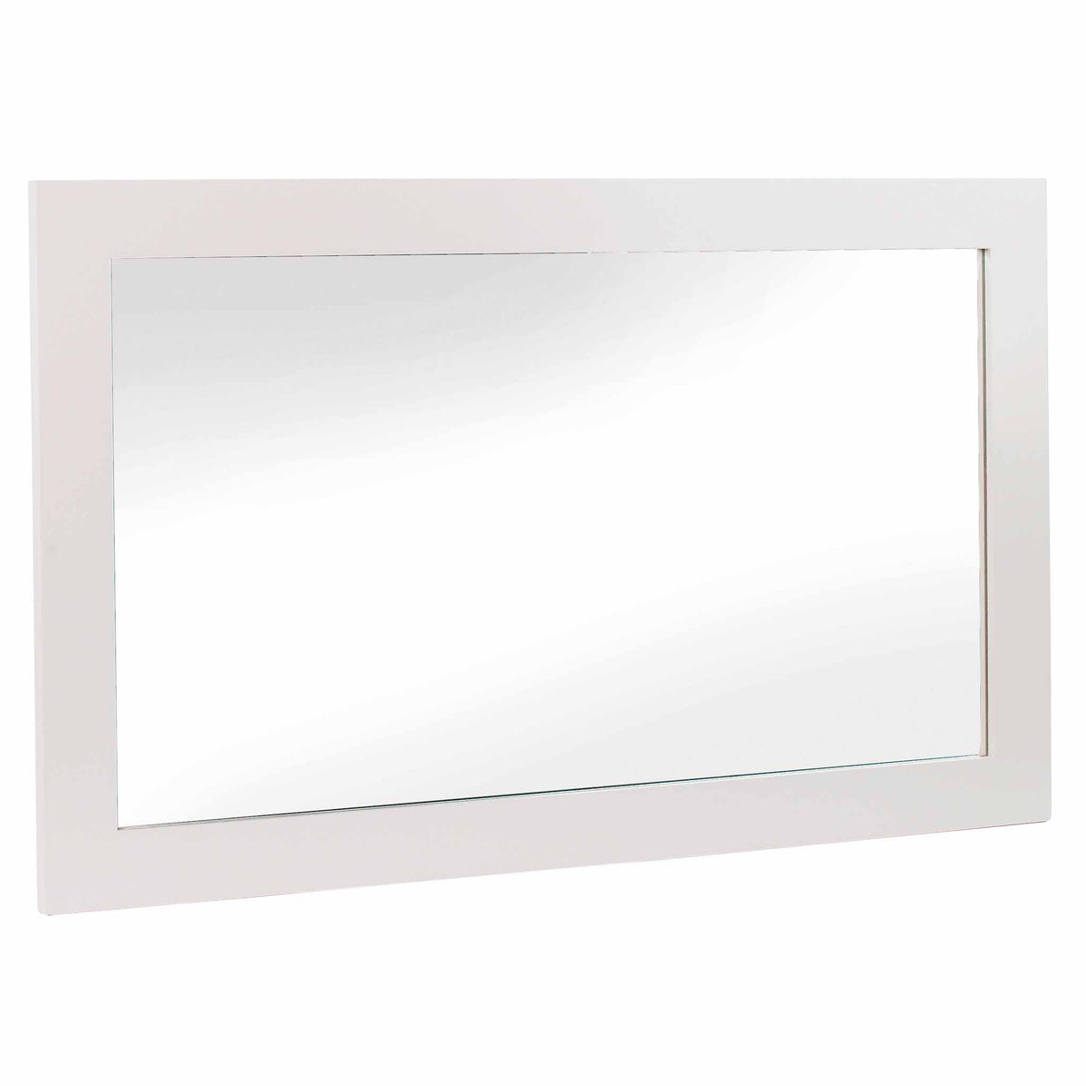 Melrose Cotton White Large Wall Mounted Mirror from Roseland Furniture