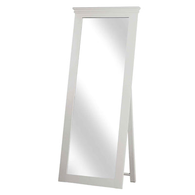 Melrose Cotton White Tall Cheval Mirror