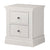 Melrose Cotton White 2 Drawer Bedside Cabinet from Roseland Furniture