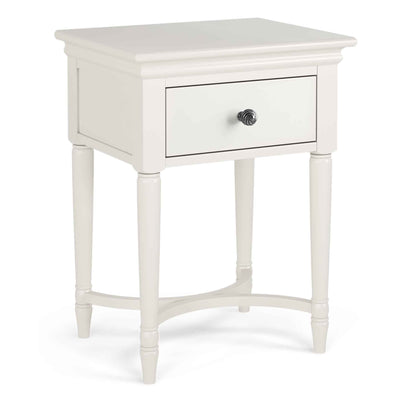 Melrose Cotton White Nightstand with Drawer from Roseland Furniture