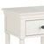 close up of corniced top on the Melrose Cotton White Nightstand with Drawer