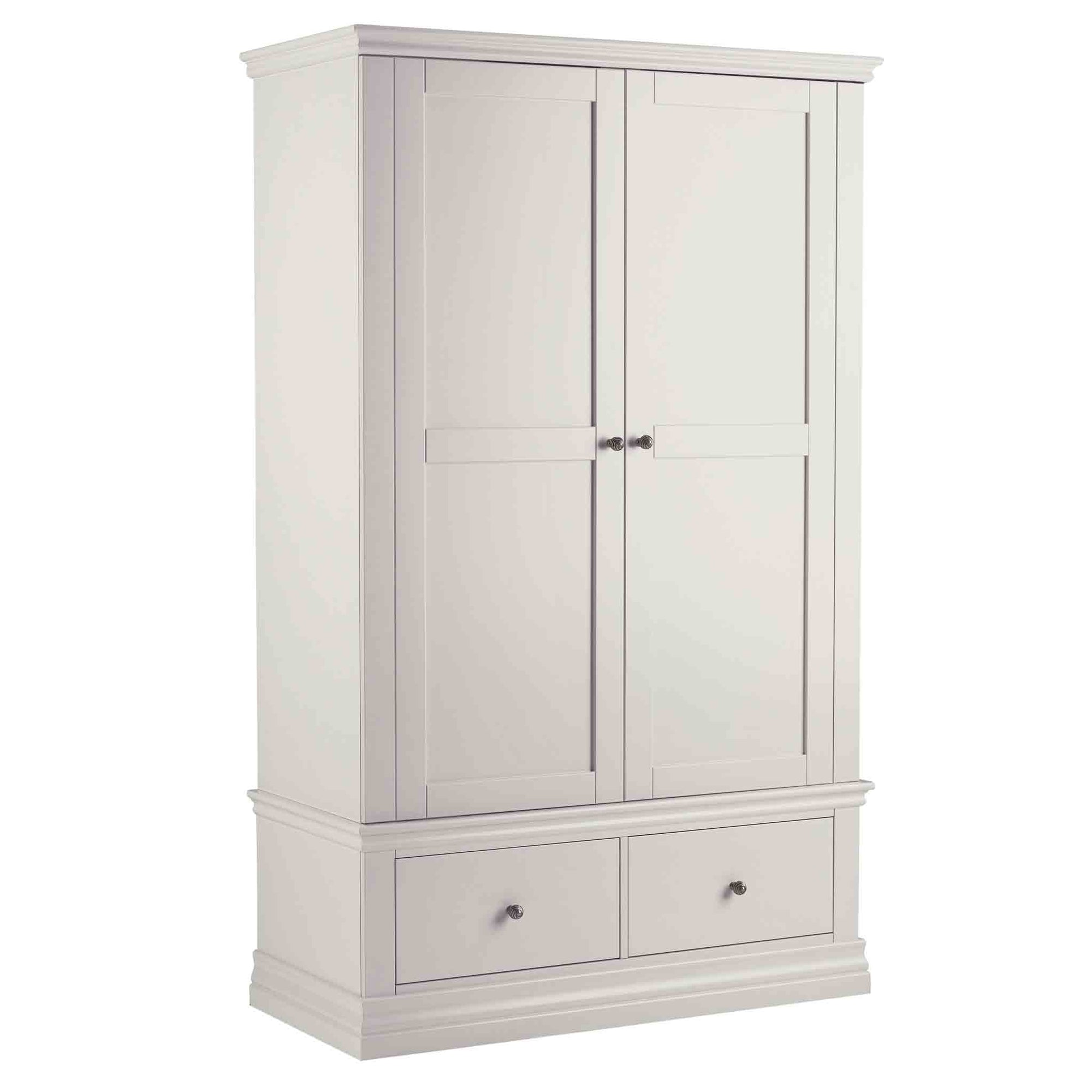 Melrose Cotton White Double Wardrobe from Roseland Furniture