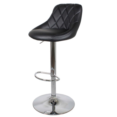 Shadow Grey Abberley Adjustable Breakfast Bar Stool with Chrome metal base