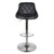 Front view of the Shadow Grey Abberley Adjustable Breakfast Bar Stool from Roseland Furniture