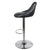 Side view of the Shadow Grey Abberley Adjustable Breakfast Bar Stool from Roseland Furniture