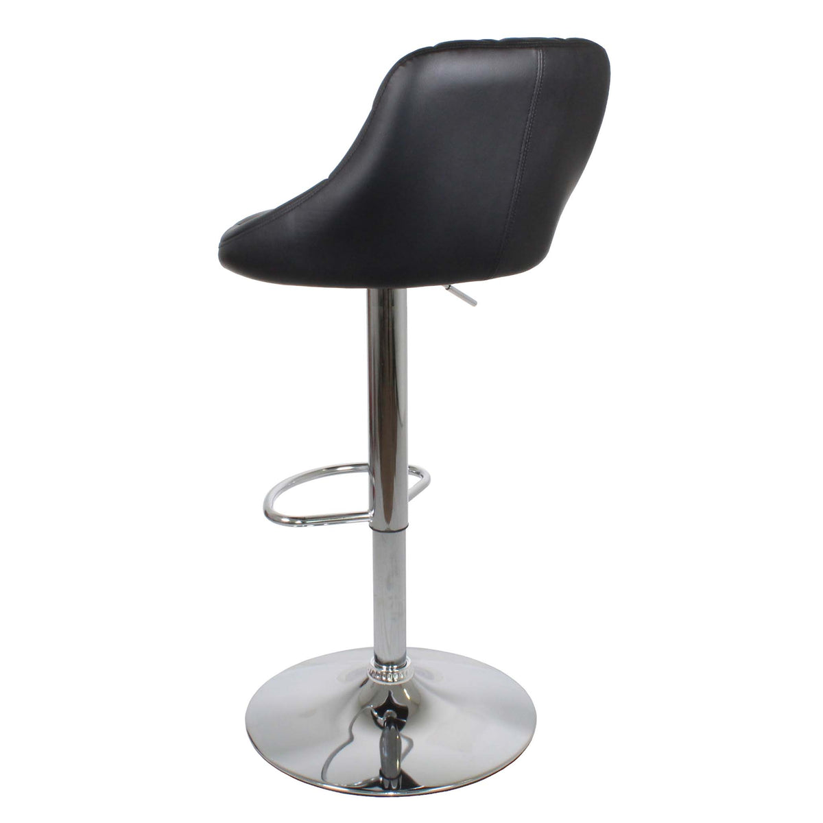 Back view of the Shadow Grey Abberley Adjustable Breakfast Bar Stool from Roseland Furniture