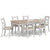 Melrose Grey Extending Dining Table with Melrose Grey Dining Chairs