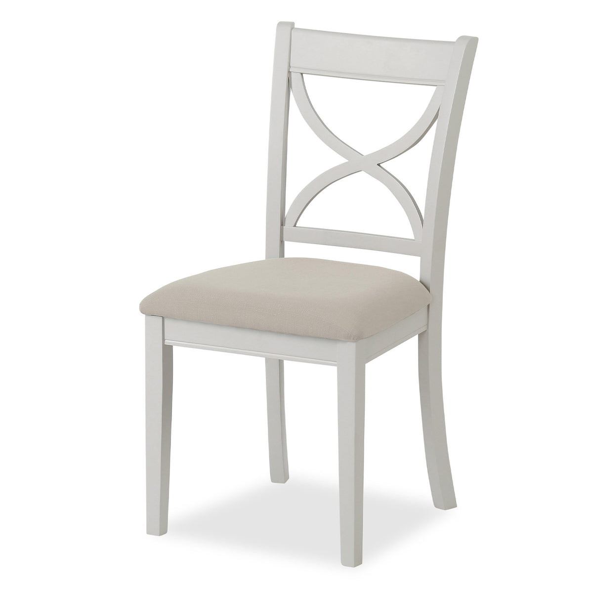 Melrose Grey Dining Chair with fabric seat from Roseland Furniture