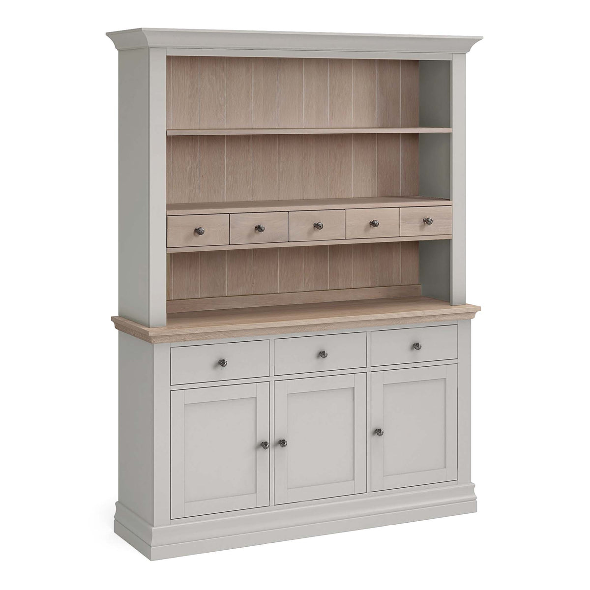Melrose Grey Large Open Dresser from Roseland Furniture