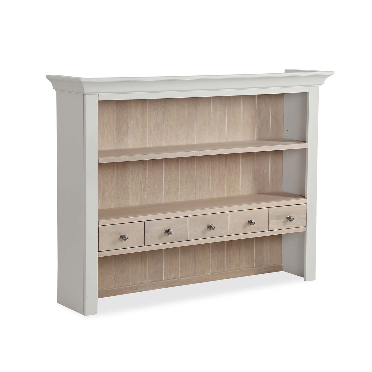 Melrose Grey Large Open Dresser Hutch from Roseland Furniture