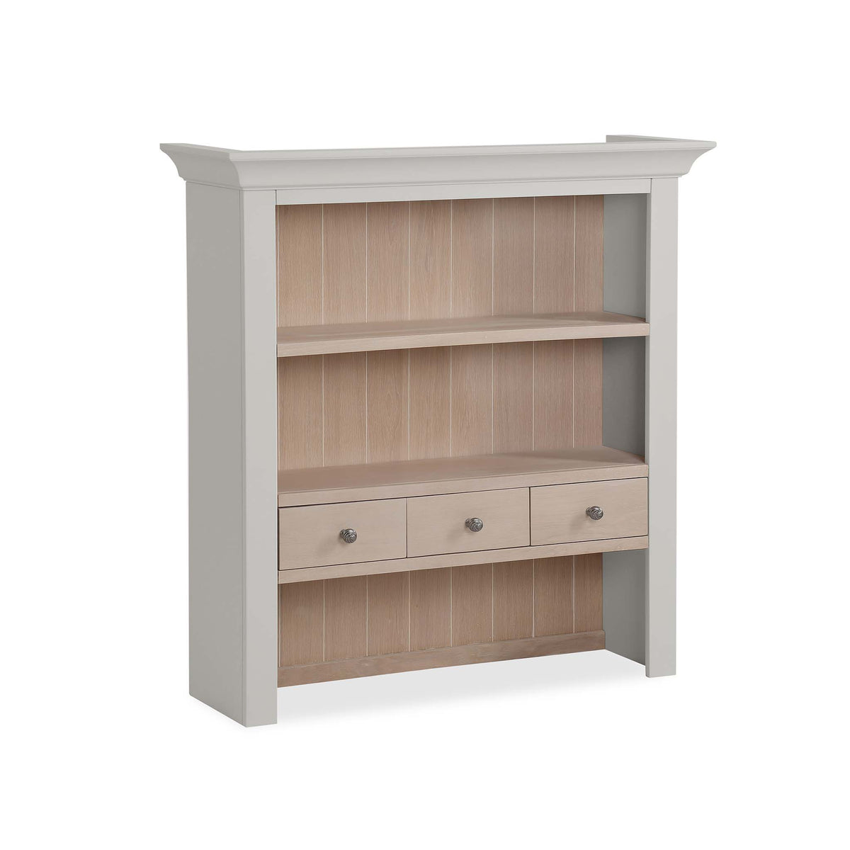 Melrose Grey Small Open Dresser Hutch from Roseland Furniture