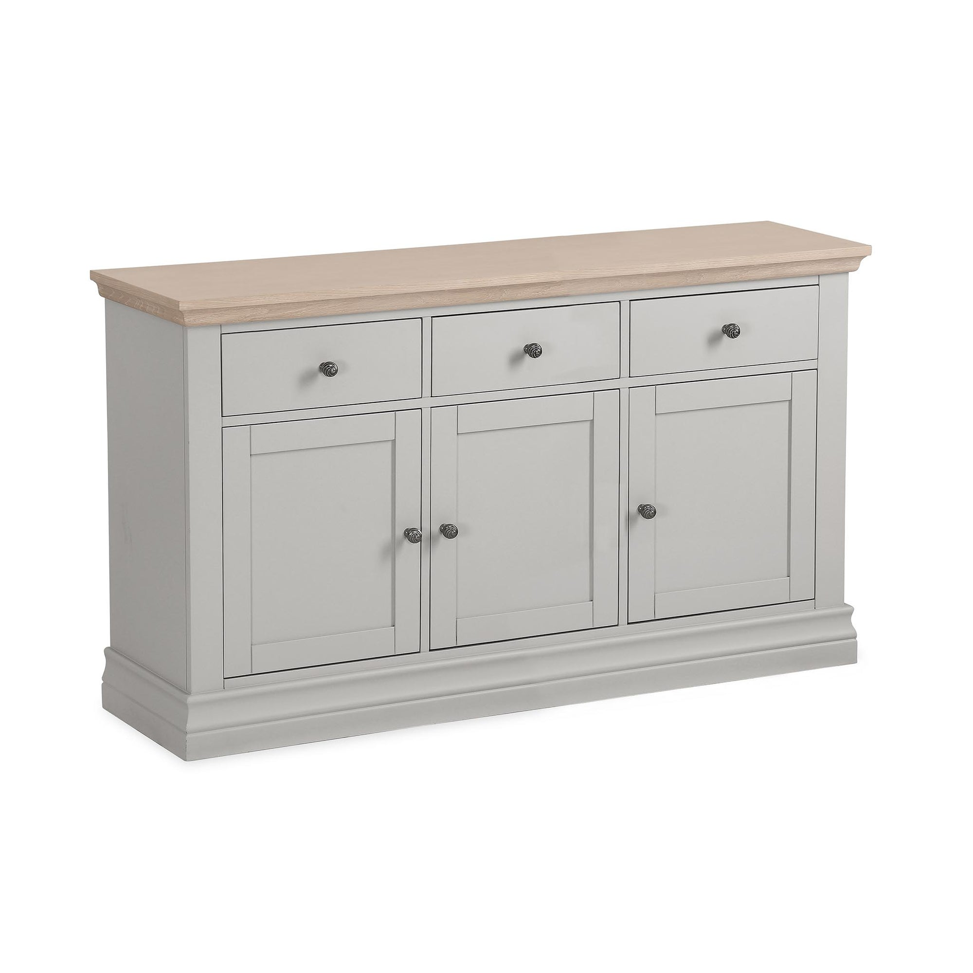 Melrose Grey Large Sideboard from Roseland Furniture