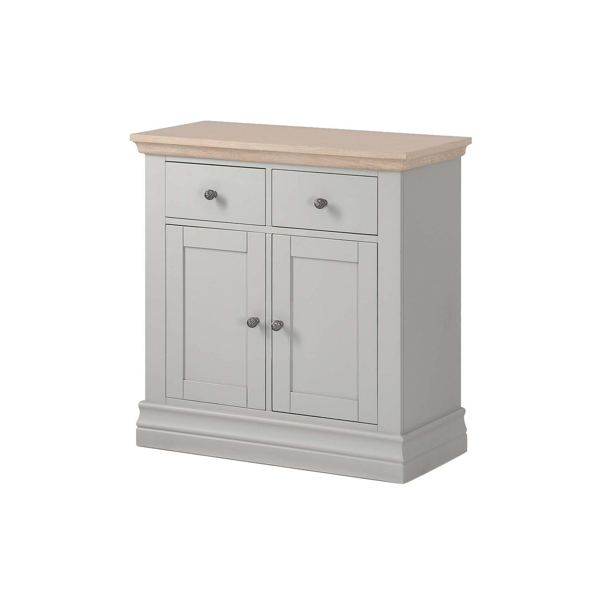 Melrose Grey Mini 2 Door Sideboard from Roseland Furniture