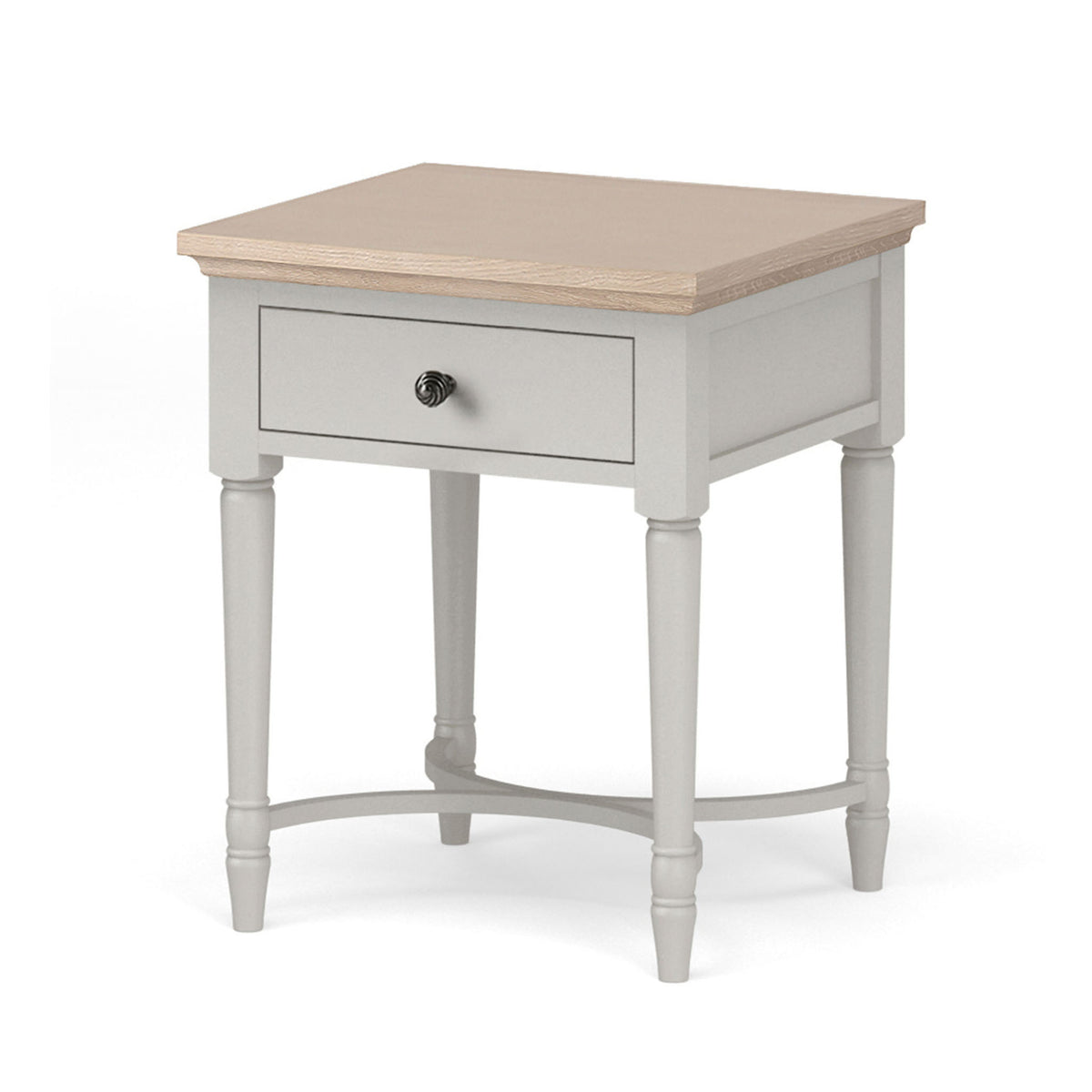 Melrose Grey Lamp Table with storage from Roseland Furniture
