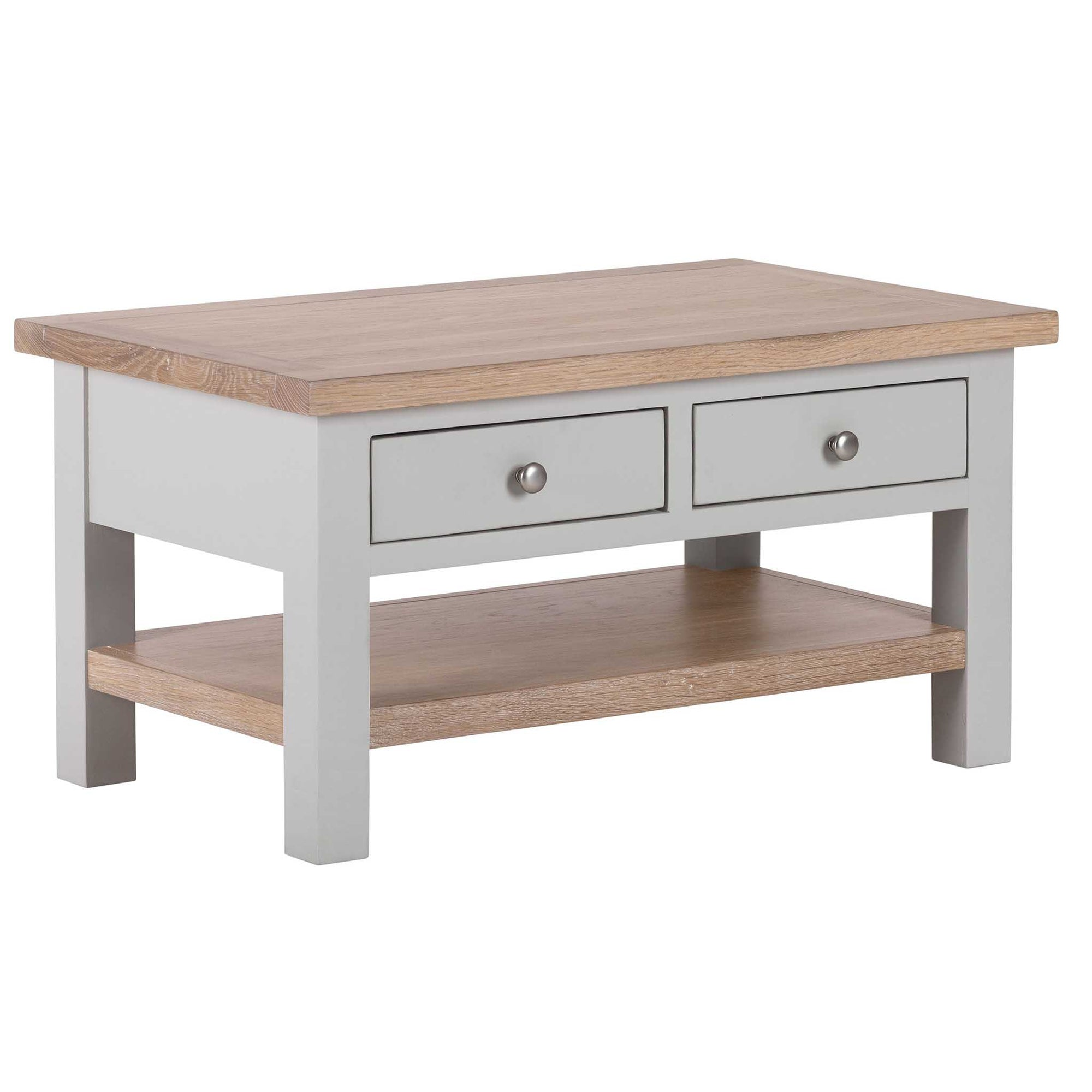 Charlestown Grey Coffee Table with 2 Drawers from Roseland Furniture