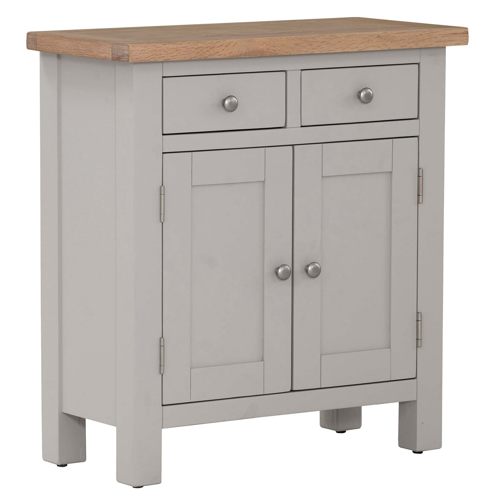 Charlestown Grey Small Sideboard with Oak Top from Roseland Furniture