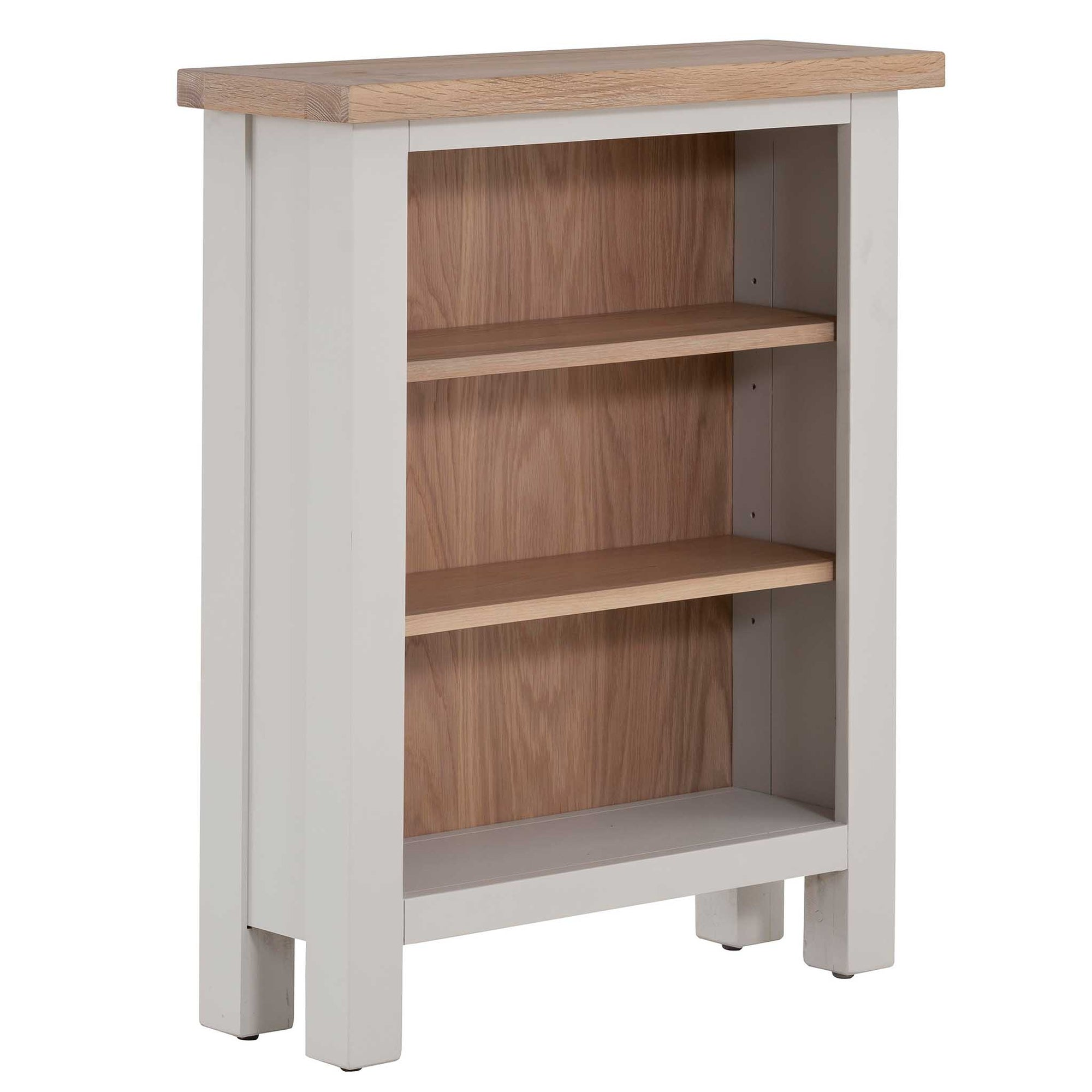 Charlestown Grey Low Bookcase from Roseland Furniture