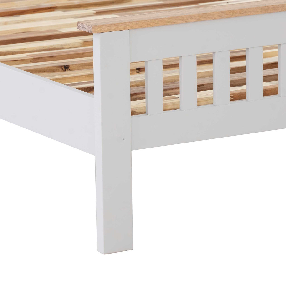 Leg of Charlestown Grey Solid Wood 4 ft 6 Double Bed Frame