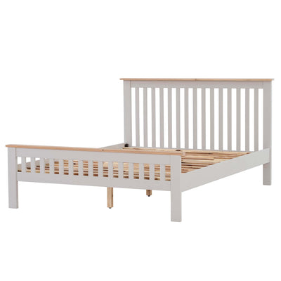 Charlestown Grey Wooden 4 ft 6 Double Bed Frame