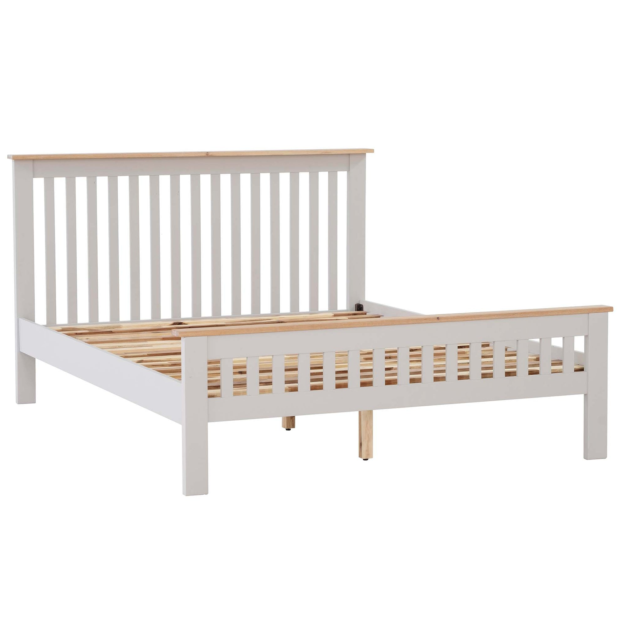 Charlestown Grey Solid Wood 5 ft King Size Bed Frame
