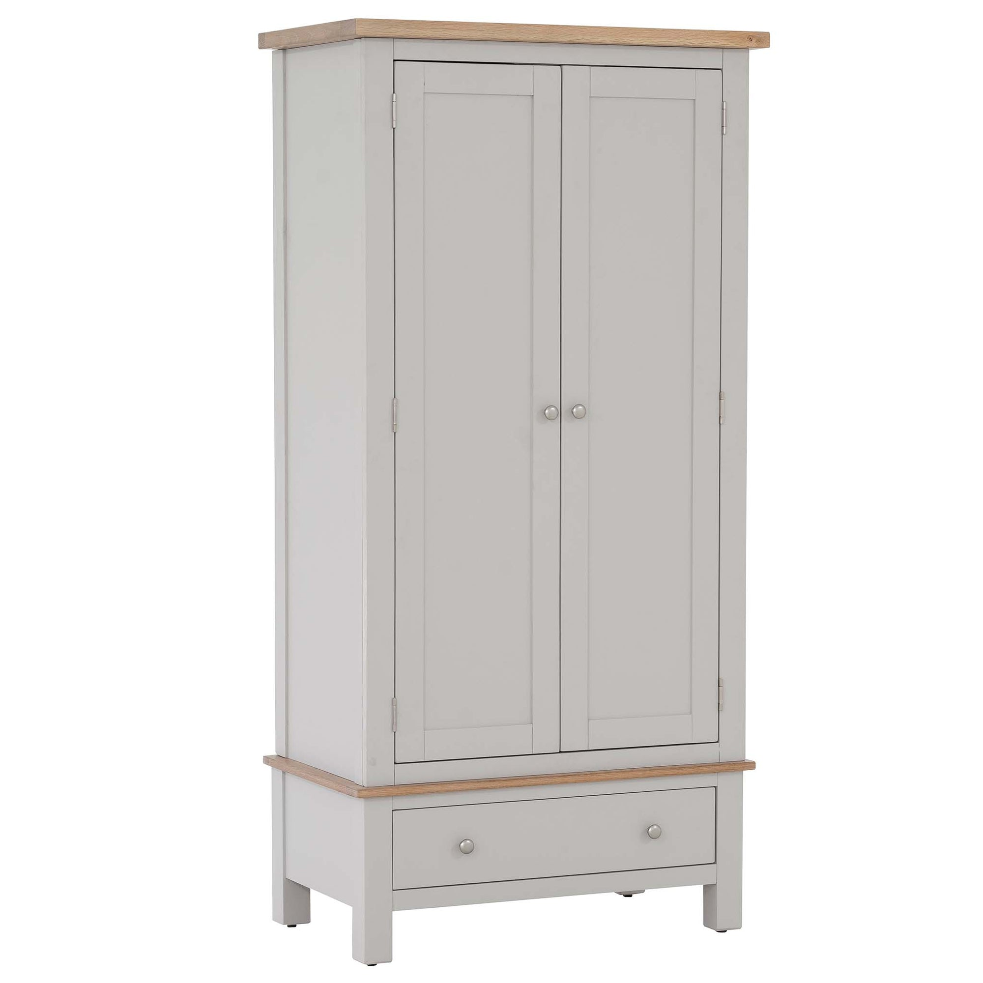 Charlestown Grey Double Wardrobe with drawer from Roseland Furniture