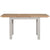 Side view of Charlestown Grey Extendable Dining Table from Roseland Furniture