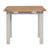 End view of the Charlestown Grey Extendable Dining Table from Roseland Furniture