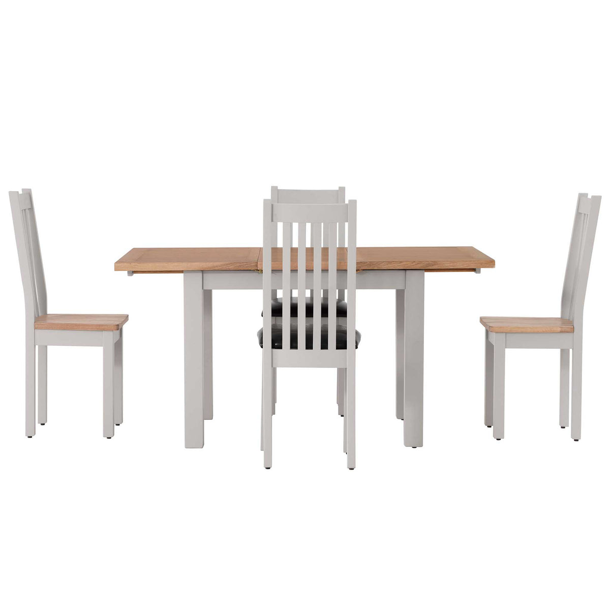 Charlestown Grey Extendable Dining Table with Charlestown Grey Dining Chairse