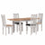 Charlestown Grey Extending Dining Table with Charlestown Grey Dining Chairs from Roseland Furniture