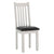 Charlestown Grey Dining Chair with Bi-Cast Leather Seat from Roseland Furniture
