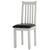 Charlestown Grey Solid Wood Dining Chair with Bi-Cast Leather Seat from Roseland Furniture