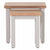 Front view of the Charlestown Grey Set of 2 Nest of Tables from Roseland Furniture